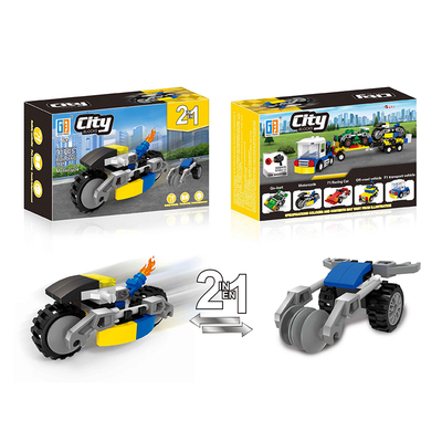 2 in 1 City racing car building block ( 41 pcs ) 5 types mix