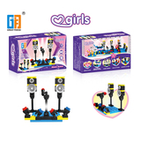 Girls building blocks series singing stage (45 pcs) 5 types mix