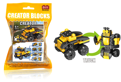 Pull back truck building blocks(43pcs)