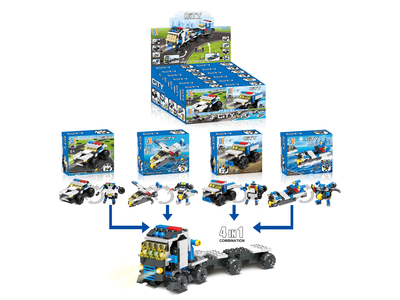 Pull back shooting building blocks(49-54pcs)