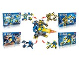 Star world pull back DIY building blocks (123 pcs)