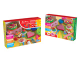 Cake set color dough