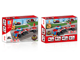 4 in 1 pull back fire engine set building blocks (212 pcs)