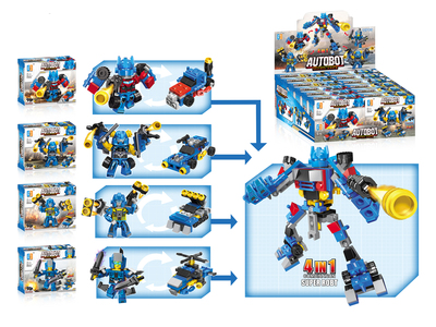Shooting autobot building blocks