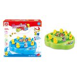 Electronic fishing game duck toy with music and light 2 in 1