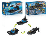 3 in 1 Police set speedboat building blocks (88 pcs)