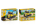 4 in 1 Pull back engineer set building blocks (178 pcs)