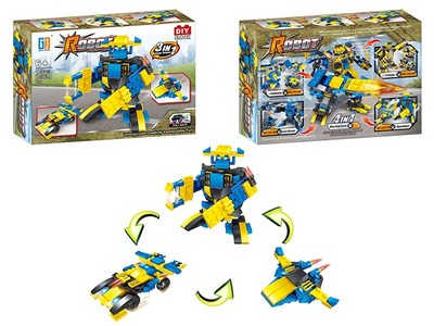 Pull back star world set building blocks (123 pcs)