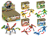 Dinosaur autobot set 4 mixed building blocks (31-36 pcs)