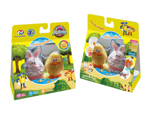 Pet color dough with chick bunny