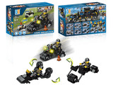 3 in 1 Police set motorcycle building blocks (78 pcs)