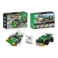 2 in 1 City racing car building blocks (46pcs) 5 types mix