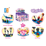 5 in 1 Girls building blocks music stage series (41-57 pcs)