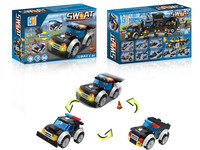 3 in 1 Police set car building blocks (72 pcs)