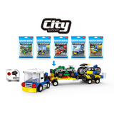 5 Types mix city series car building blocks opp bag packing (49-51 pcs)