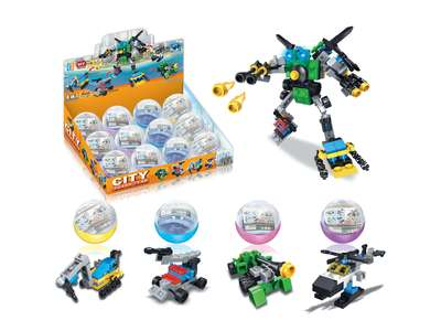 Egg package autobot diy building blocks
