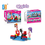 Girls music stage series building blocks with mini figures (55 pcs) 4 mixed