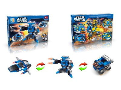 Star World pull back diy building blocks (129 pcs)
