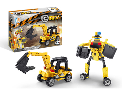 Pull multiple back excavator building blocks (123 pcs)