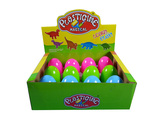 Dinosaur eggs color dough (12 pcs) in display box