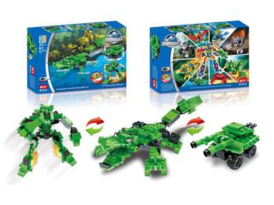 Animal set pull back building blocks (229 pcs)