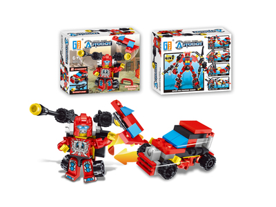 Shooting ambulance robot building blocks (50 pcs)