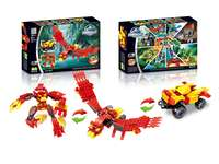 Animal set pull back building blocks (205 pcs)