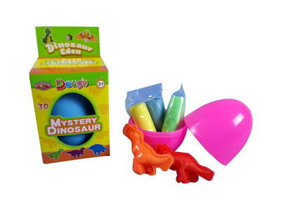 Dinosaur egg color dough