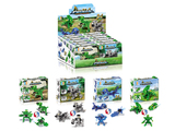 Jurassic set building blocks 4 mixed in display box