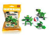 Jurassic dinosaur 3 in 1 building blocks (68 pcs)