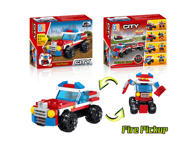 Pull back fire pickup building blocks (53 pcs)