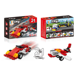 2 in 1 City racing car building blocks (40 pcs) 5 types mix