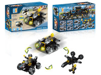 3 in 1 Police set ATV building blocks (78 pcs)