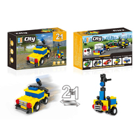 2 in 1 City racing car building blocks (51 pcs) 5 types mix